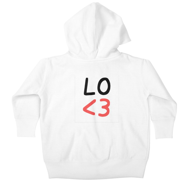 LO<3 Kids Baby Zip-Up Hoody by Haasbroek's Artist Shop