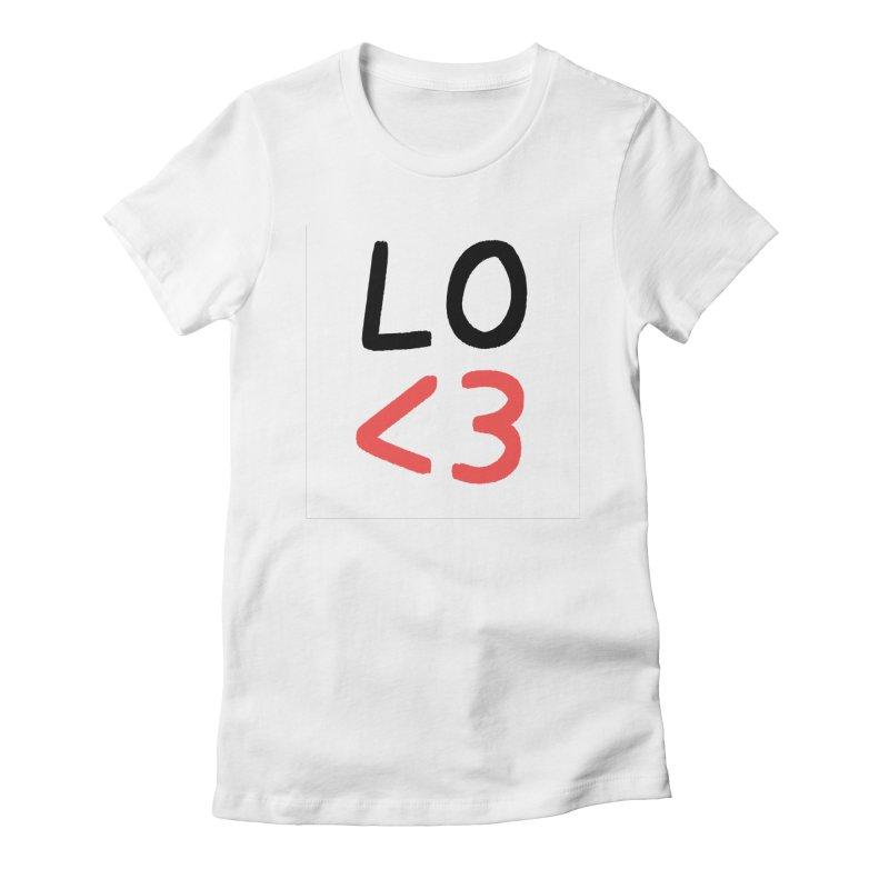 LO<3 Women's T-Shirt by Haasbroek's Artist Shop