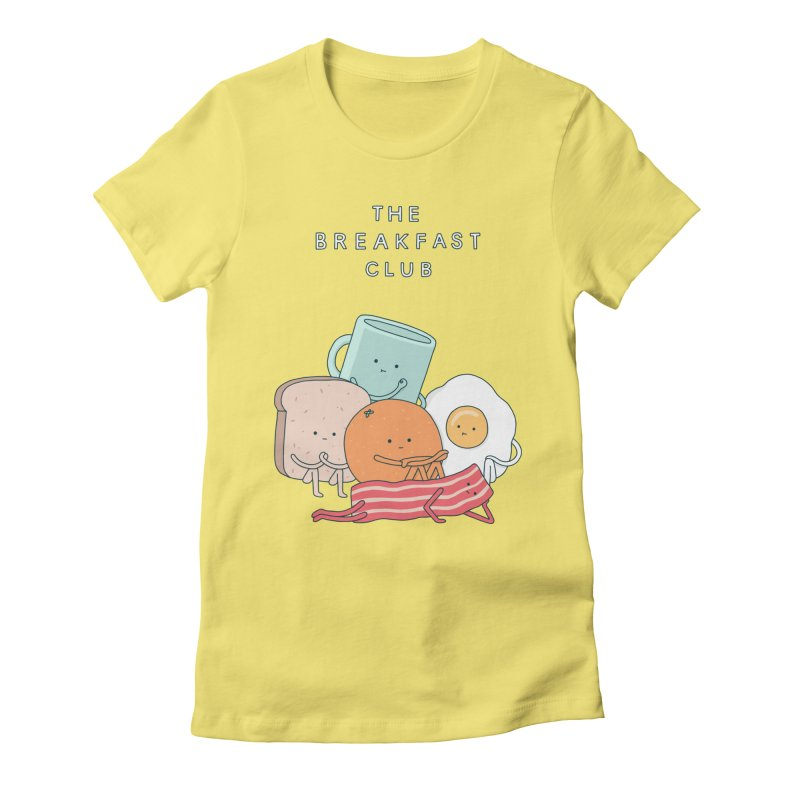 The Breakfast Club Women's Fitted T-Shirt by jacohaasbroek's Artist Shop
