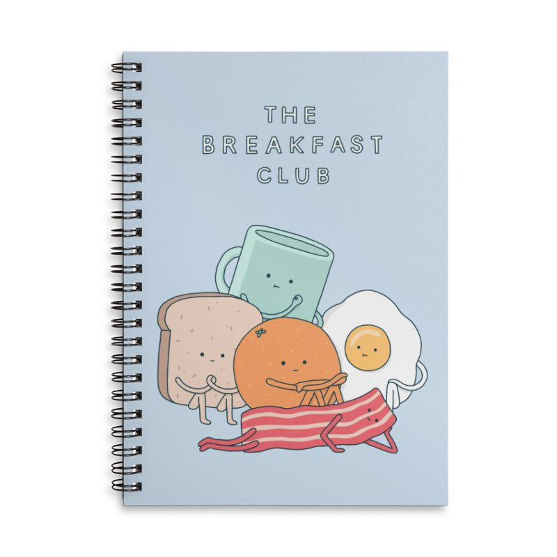 The Breakfast Club Accessories Lined Spiral Notebook by Haasbroek's Artist Shop