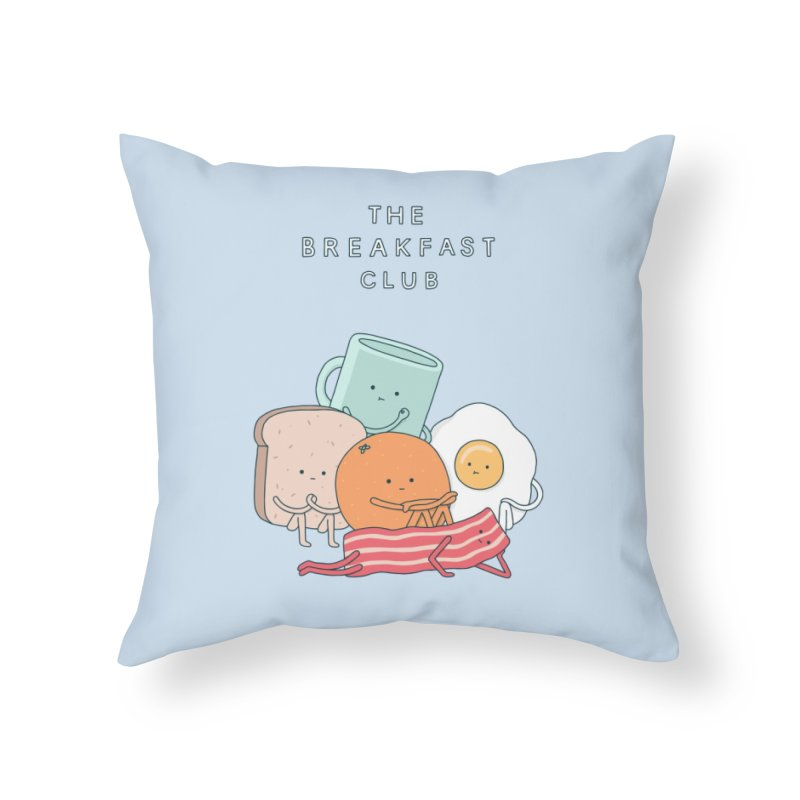 The Breakfast Club Home Throw Pillow by Haasbroek's Artist Shop