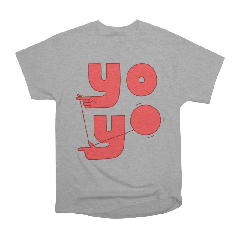 Yo Men's Heavyweight T-Shirt by Haasbroek's Artist Shop