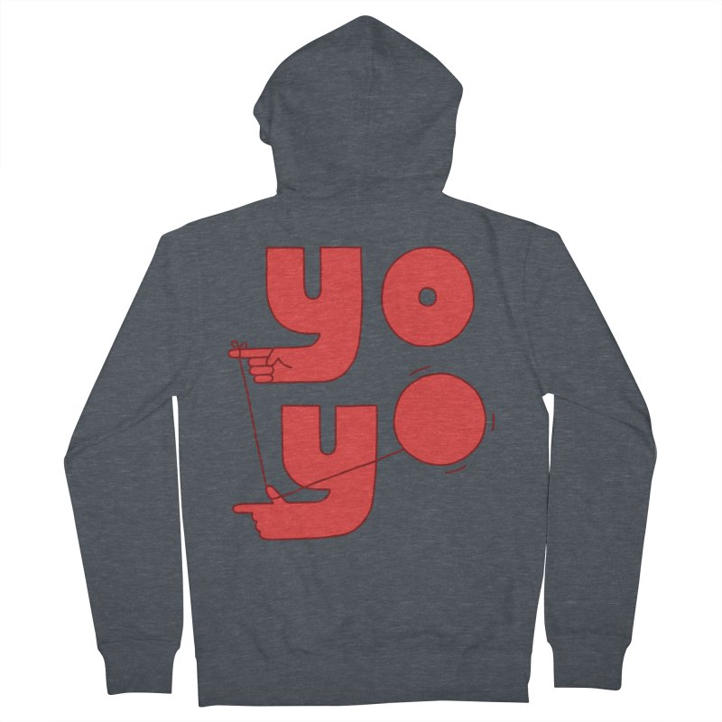 Yo Men's French Terry Zip-Up Hoody by Haasbroek's Artist Shop