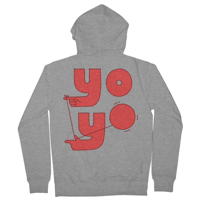 Yo Men's French Terry Zip-Up Hoody by jacohaasbroek's Artist Shop