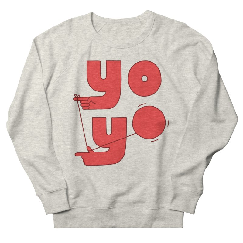 Yo Men's French Terry Sweatshirt by jacohaasbroek's Artist Shop