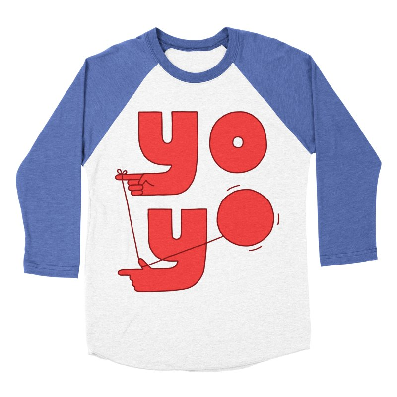 Yo Women's Baseball Triblend Longsleeve T-Shirt by jacohaasbroek's Artist Shop