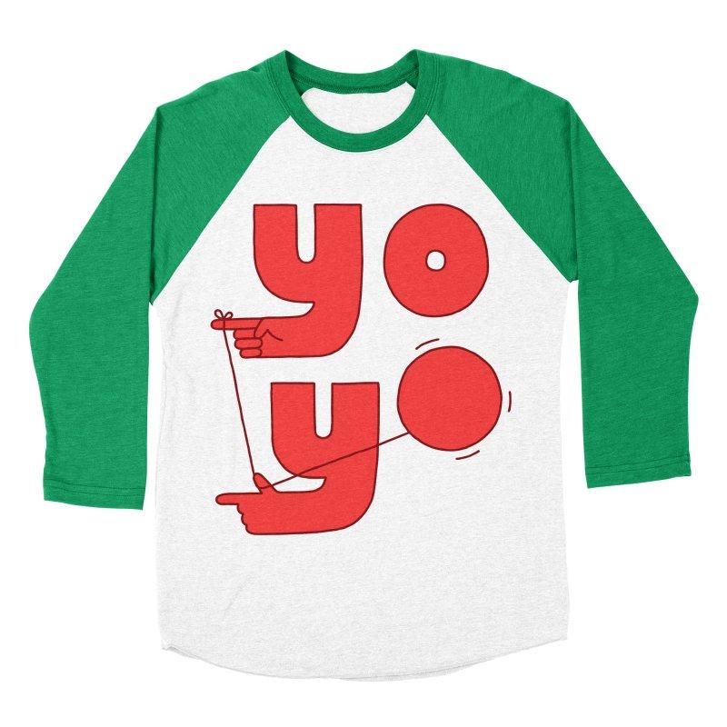 Yo Women's Baseball Triblend Longsleeve T-Shirt by Haasbroek's Artist Shop