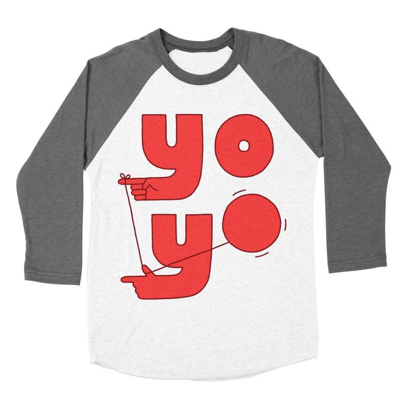 Yo Men's Baseball Triblend Longsleeve T-Shirt by jacohaasbroek's Artist Shop