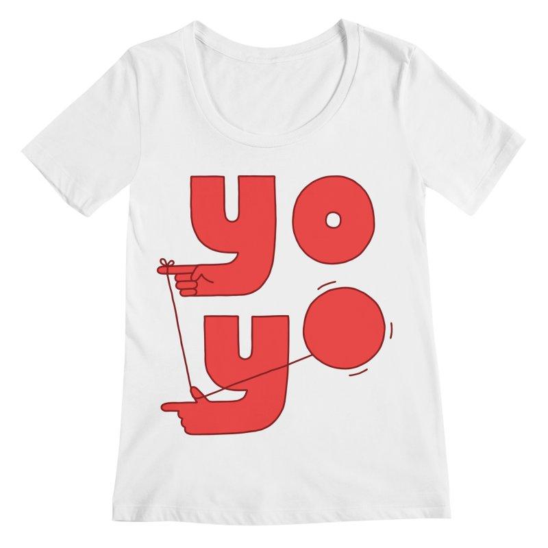 Yo Women's Regular Scoop Neck by jacohaasbroek's Artist Shop