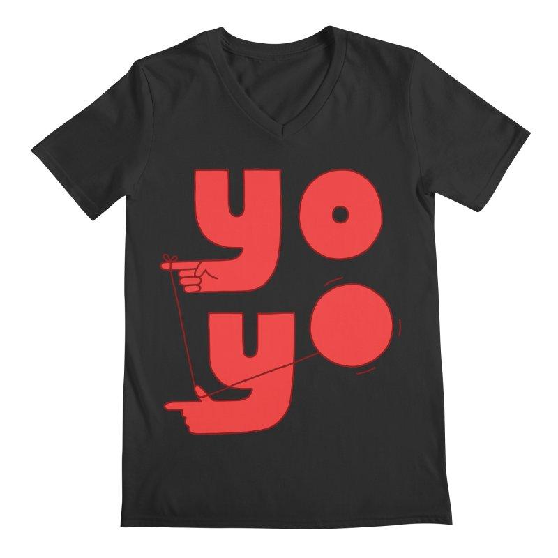 Yo Men's V-Neck by jacohaasbroek's Artist Shop