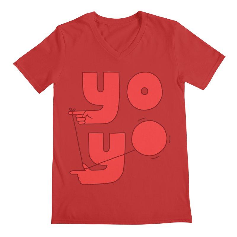 Yo Men's Regular V-Neck by Haasbroek's Artist Shop
