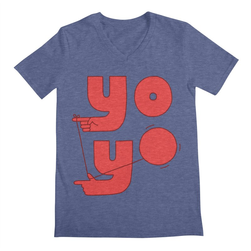 Yo Men's Regular V-Neck by Haasbroek's Artist Shop