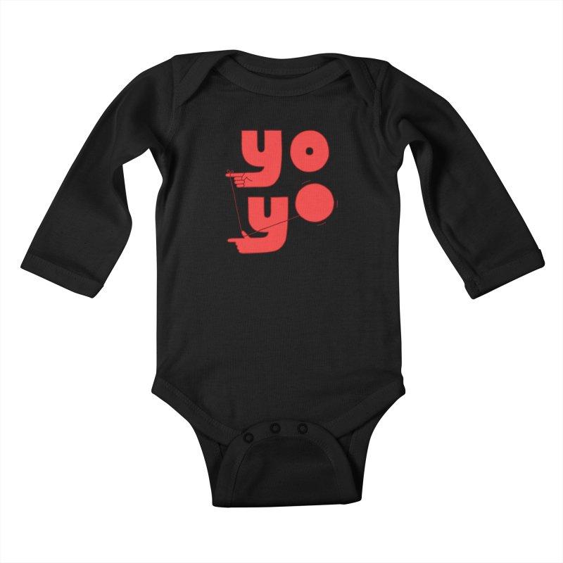 Yo Kids Baby Longsleeve Bodysuit by jacohaasbroek's Artist Shop