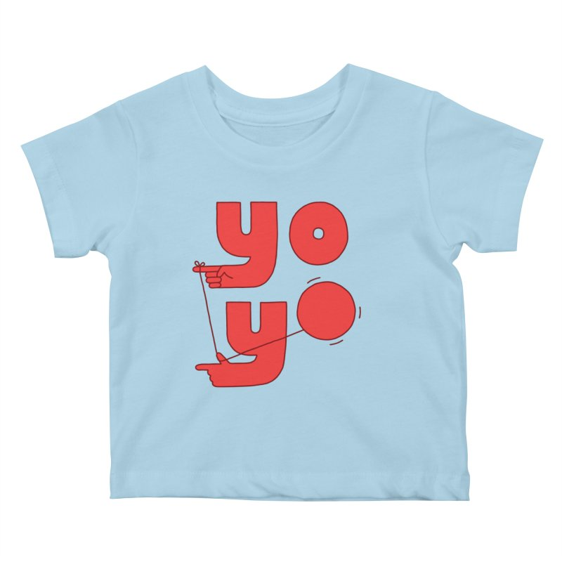 Yo Kids Baby T-Shirt by Haasbroek's Artist Shop