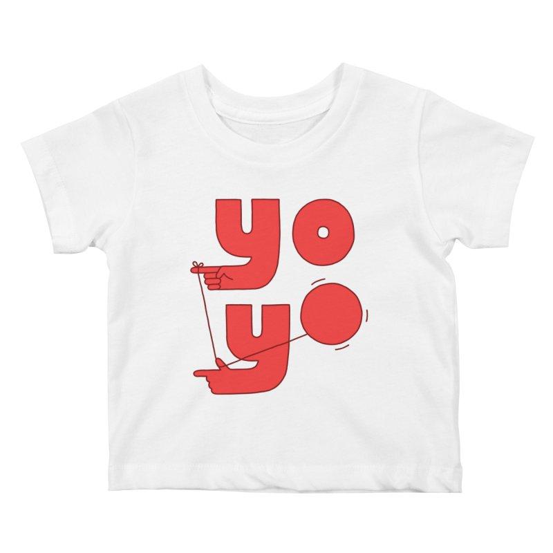 Yo Kids Baby T-Shirt by Haasbroek's Artist Shop