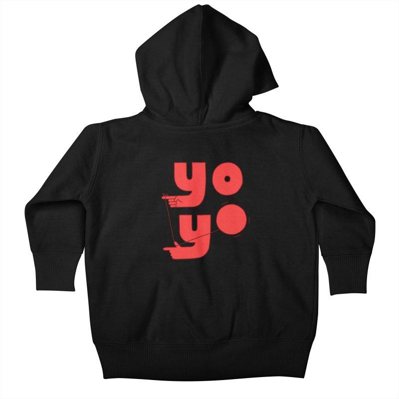 Yo Kids Baby Zip-Up Hoody by jacohaasbroek's Artist Shop