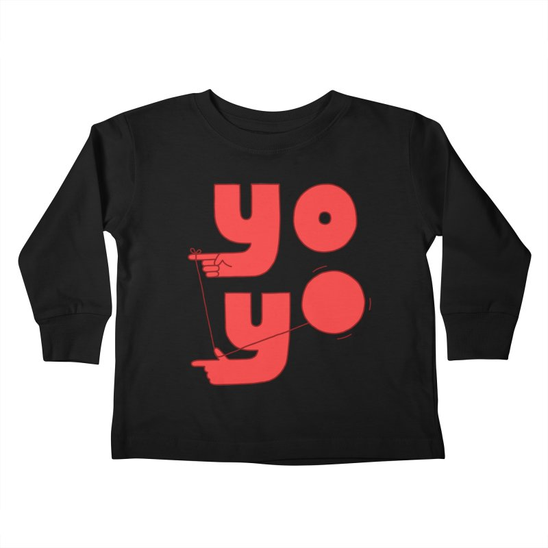 Yo Kids Toddler Longsleeve T-Shirt by Haasbroek's Artist Shop