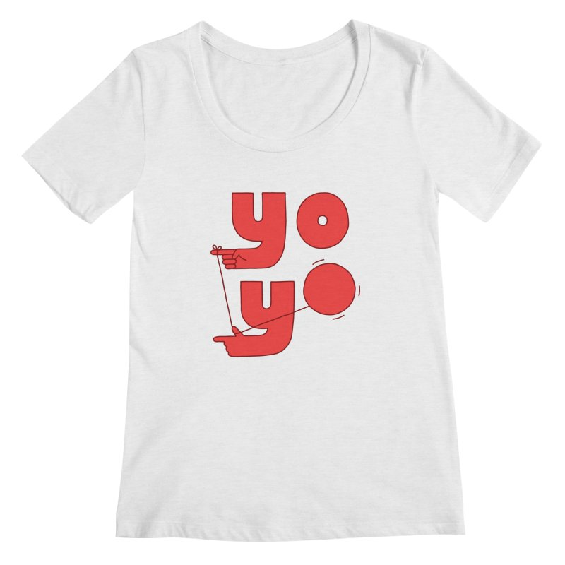 Yo Women's Regular Scoop Neck by Haasbroek's Artist Shop