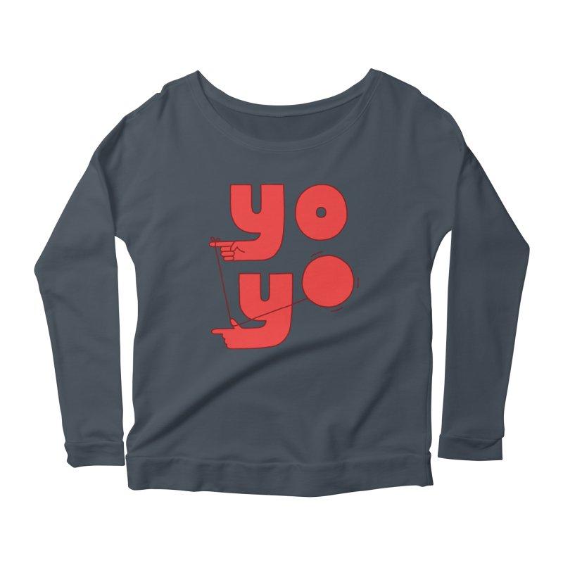 Yo Women's Scoop Neck Longsleeve T-Shirt by jacohaasbroek's Artist Shop