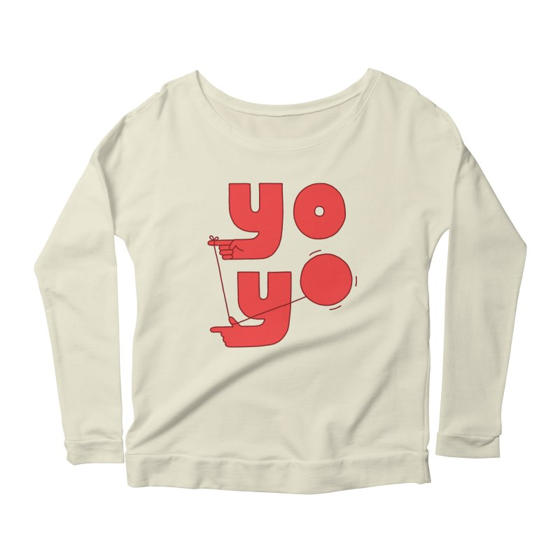 Yo Women's Scoop Neck Longsleeve T-Shirt by jacohaasbroek's Artist Shop