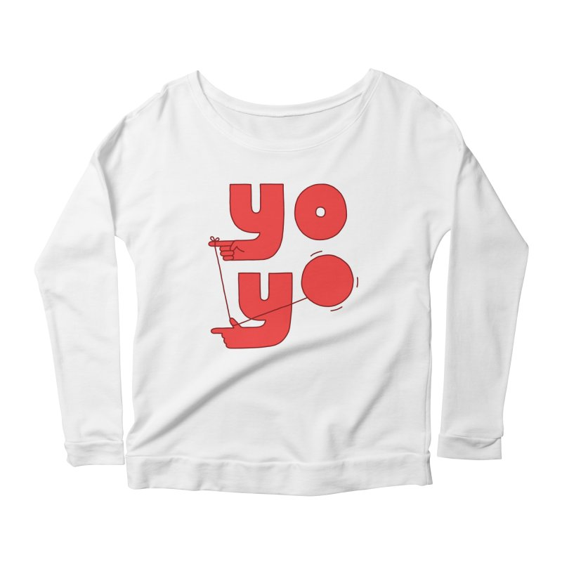 Yo Women's Scoop Neck Longsleeve T-Shirt by Haasbroek's Artist Shop
