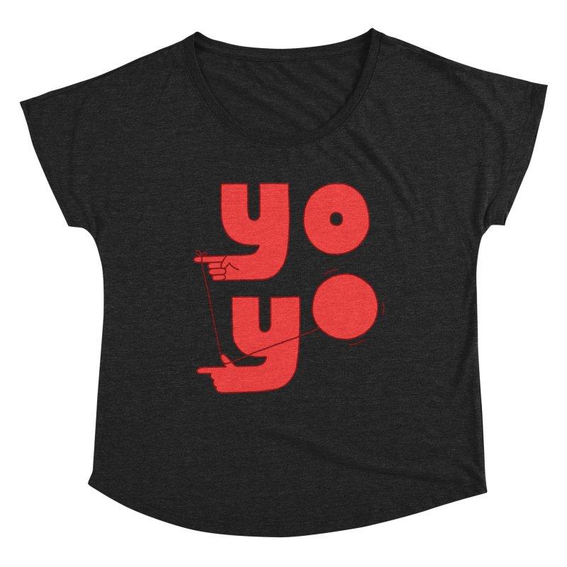 Yo Women's Dolman Scoop Neck by Haasbroek's Artist Shop