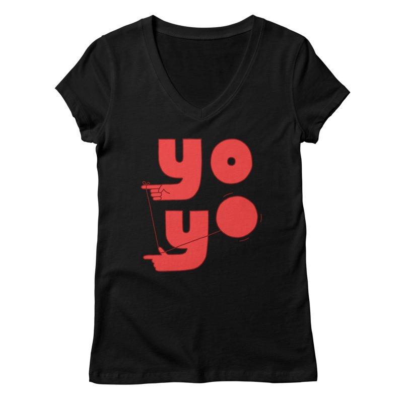 Yo Women's V-Neck by Haasbroek's Artist Shop