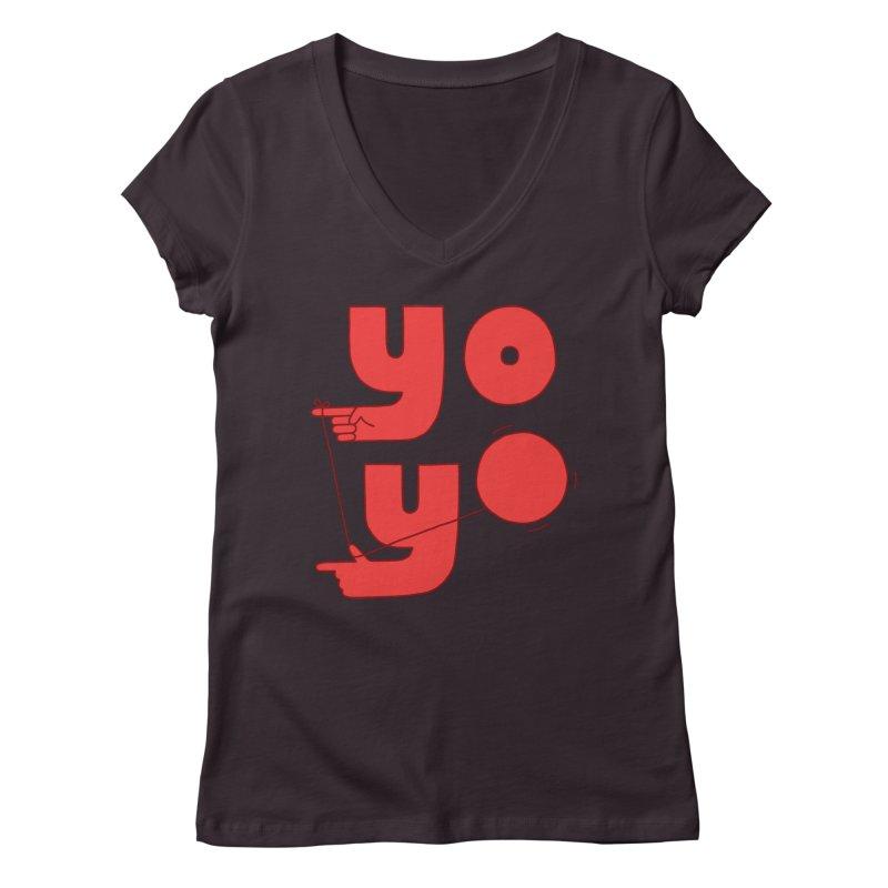 Yo Women's Regular V-Neck by Haasbroek's Artist Shop