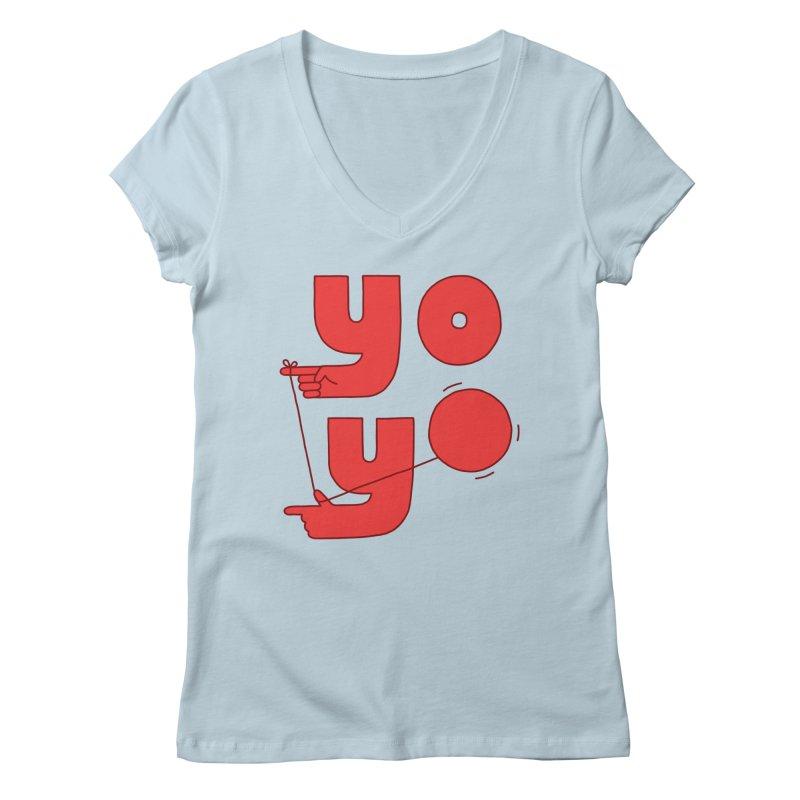 Yo Women's V-Neck by jacohaasbroek's Artist Shop