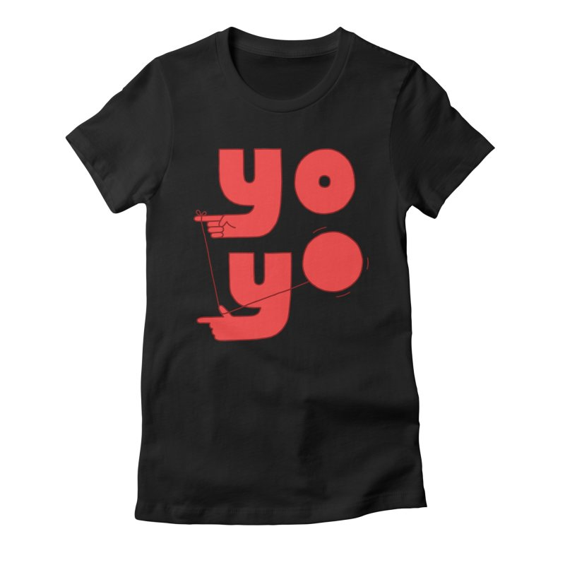 Yo Women's Fitted T-Shirt by Haasbroek's Artist Shop