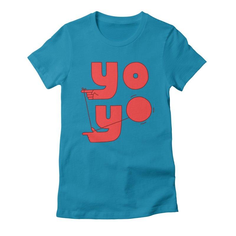 Yo Women's Fitted T-Shirt by Haasbroek's Artist Shop