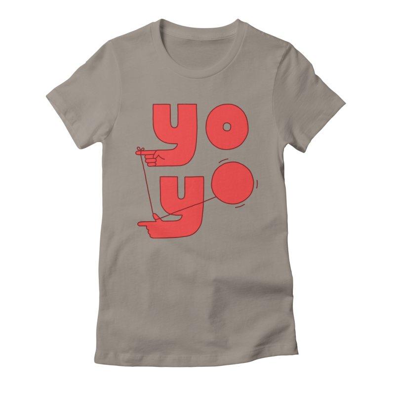 Yo Women's Fitted T-Shirt by jacohaasbroek's Artist Shop