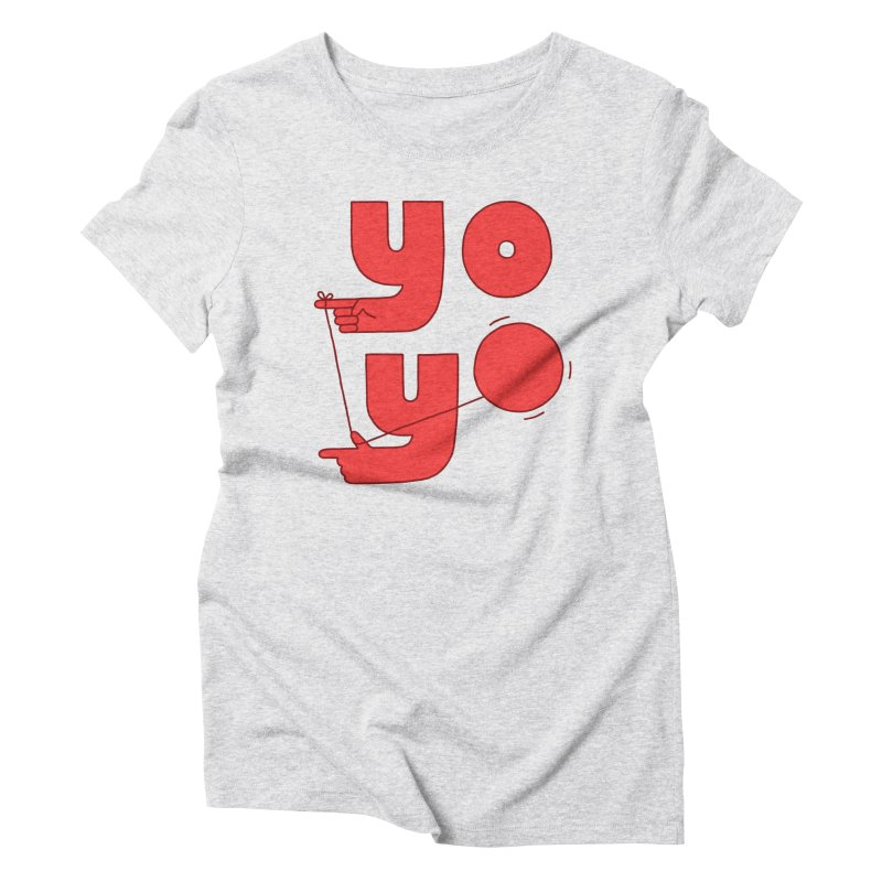 Yo Women's Triblend T-Shirt by Haasbroek's Artist Shop