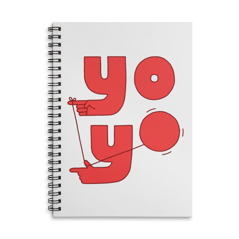 Yo Accessories Lined Spiral Notebook by Haasbroek's Artist Shop