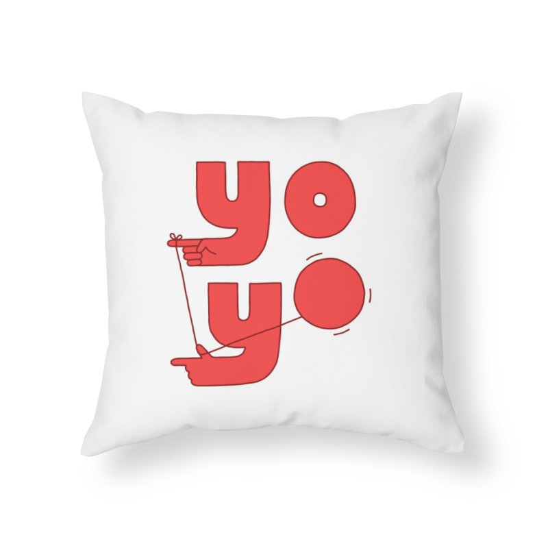 Yo Home Throw Pillow by Haasbroek's Artist Shop