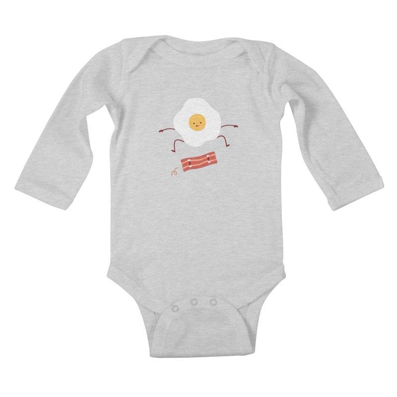 Easy Over Kids Baby Longsleeve Bodysuit by jacohaasbroek's Artist Shop