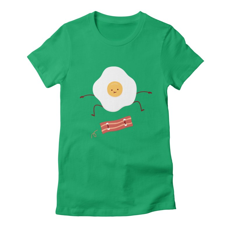 Easy Over Women's Fitted T-Shirt by jacohaasbroek's Artist Shop