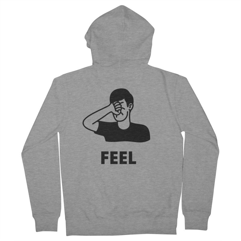 Punch Yourself Men's French Terry Zip-Up Hoody by jacohaasbroek's Artist Shop