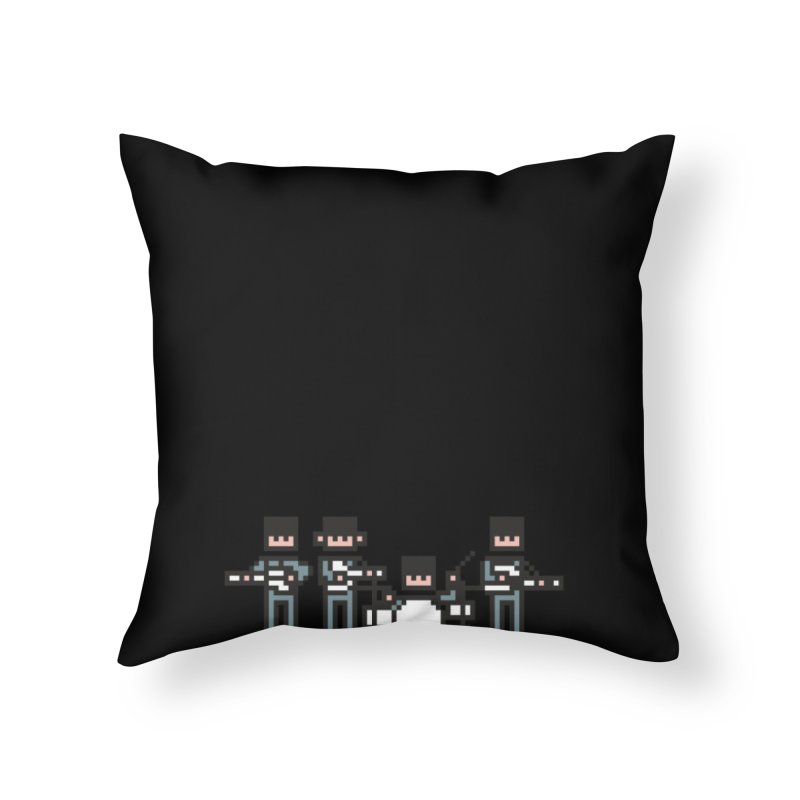 The Bitles Home Throw Pillow by Haasbroek's Artist Shop