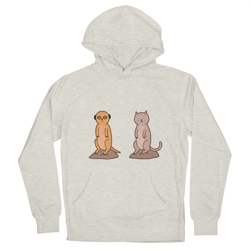 Meerkat Women's French Terry Pullover Hoody by Haasbroek's Artist Shop