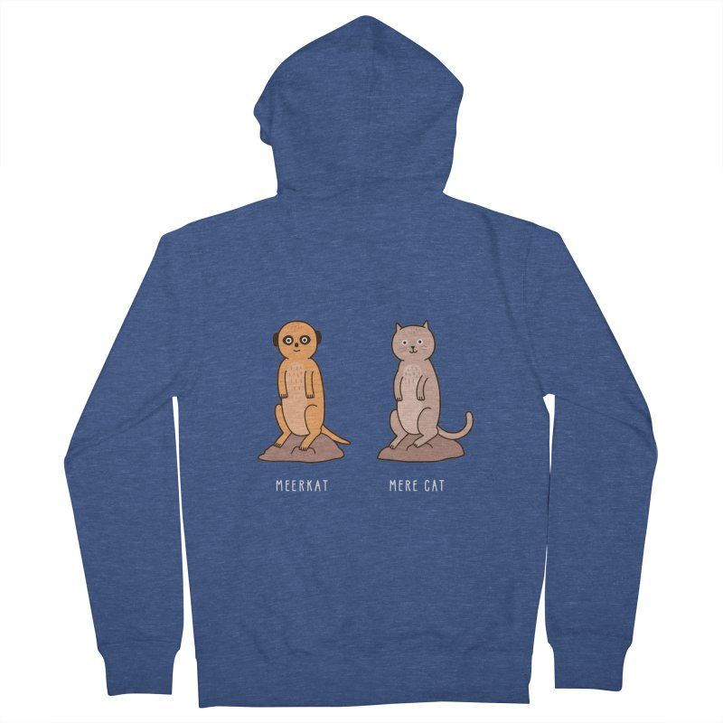 Meerkat Men's French Terry Zip-Up Hoody by jacohaasbroek's Artist Shop