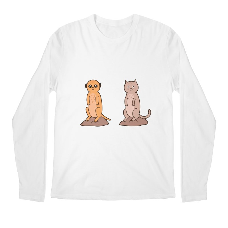 Meerkat Men's Regular Longsleeve T-Shirt by Haasbroek's Artist Shop