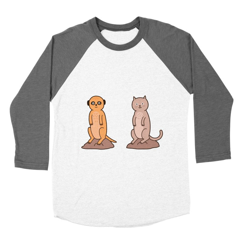 Meerkat Women's Baseball Triblend Longsleeve T-Shirt by Haasbroek's Artist Shop
