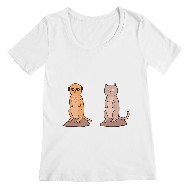 Meerkat Women's Regular Scoop Neck by Haasbroek's Artist Shop