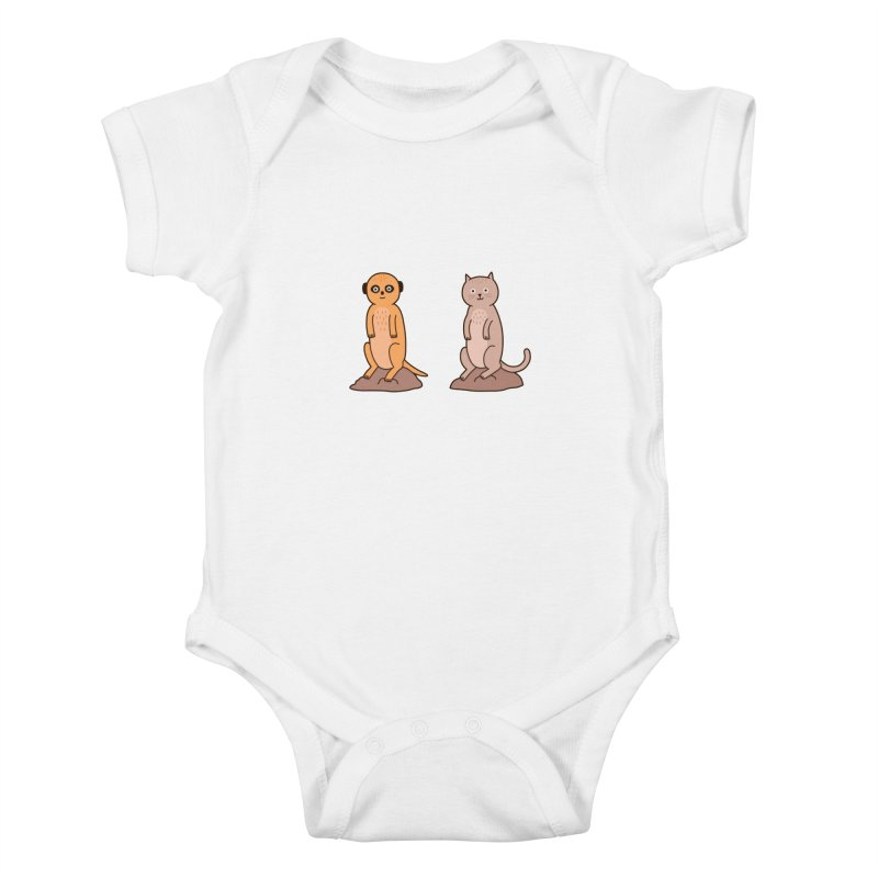Meerkat Kids Baby Bodysuit by Haasbroek's Artist Shop