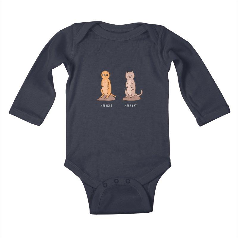 Meerkat Kids Baby Longsleeve Bodysuit by jacohaasbroek's Artist Shop