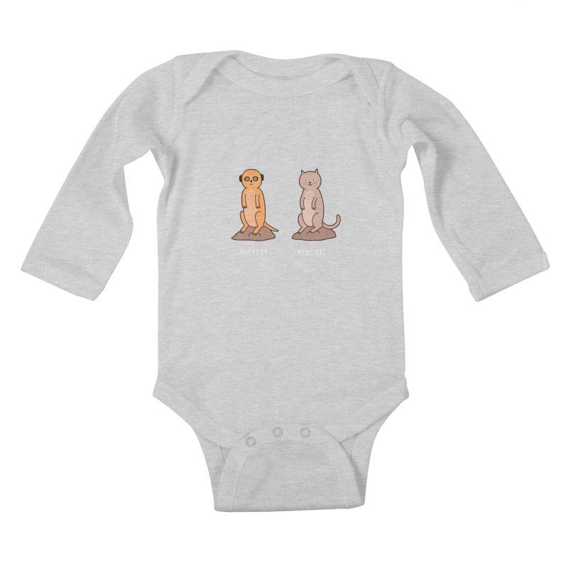 Meerkat Kids Baby Longsleeve Bodysuit by Haasbroek's Artist Shop