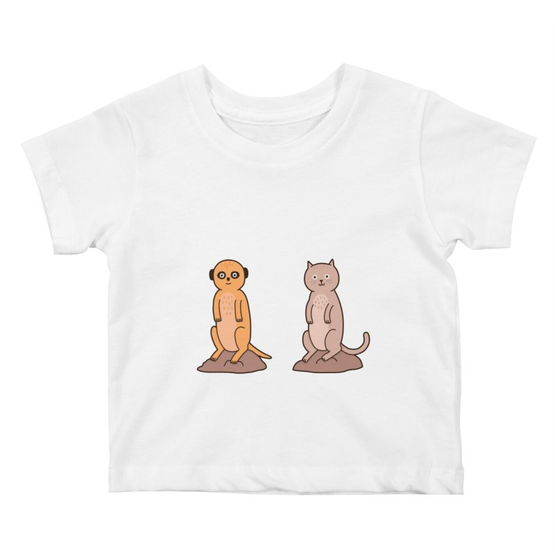 Meerkat Kids Baby T-Shirt by jacohaasbroek's Artist Shop