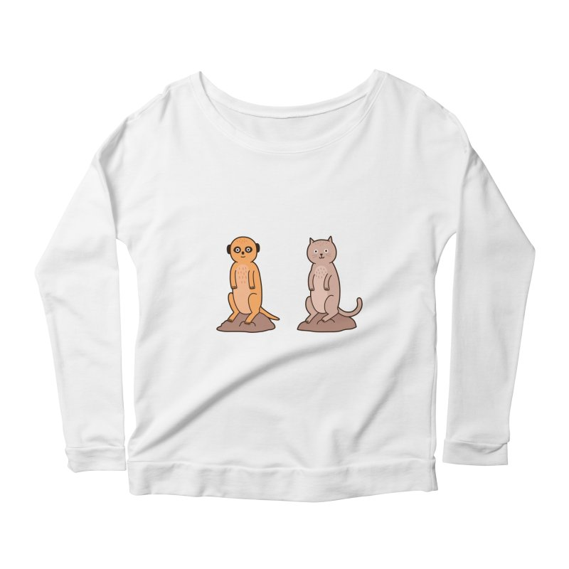 Meerkat Women's Scoop Neck Longsleeve T-Shirt by Haasbroek's Artist Shop