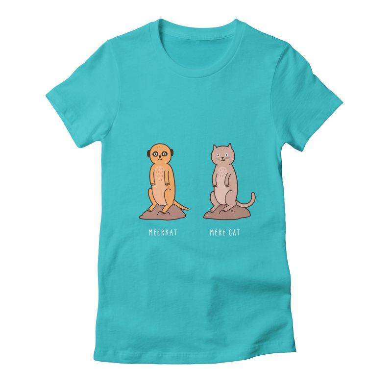 Meerkat Women's Fitted T-Shirt by Haasbroek's Artist Shop